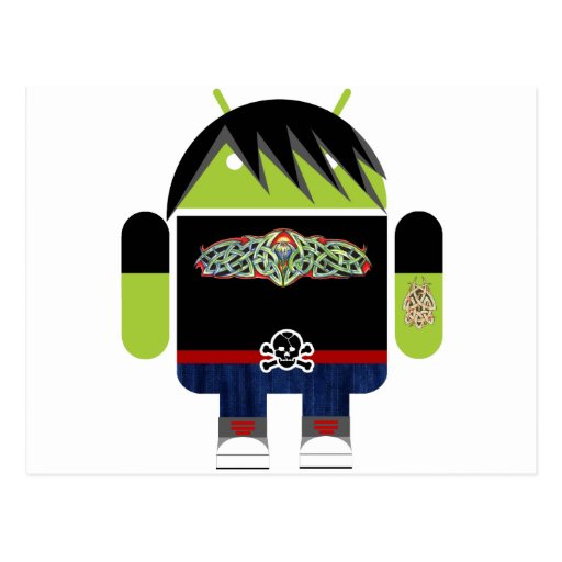 Emo Andy the Android Post Cards