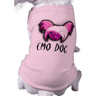 EMO DOG PET T SHIRT