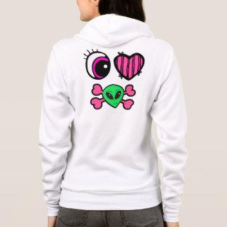 emo eye heart i heart aliens hoodie