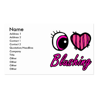 Emo Eye Heart I Love Blushing Pack Of Standard Business Cards