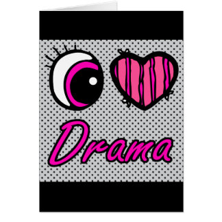 Emo Eye Heart I Love Drama Card
