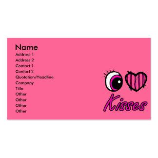 Emo Eye Heart I Love Kisses Business Card