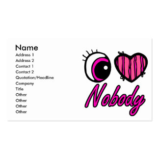Emo Eye Heart I Love Nobody Business Card