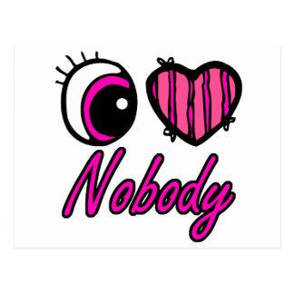 Emo Eye Heart I Love Nobody Postcard