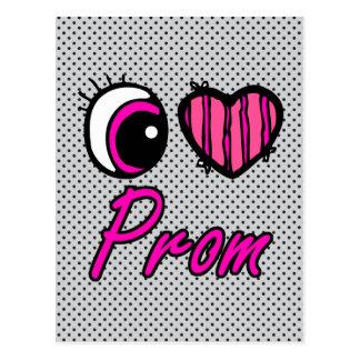 Emo Eye Heart I Love Prom Postcard