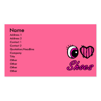 Emo Eye Heart I Love Shoes Business Card