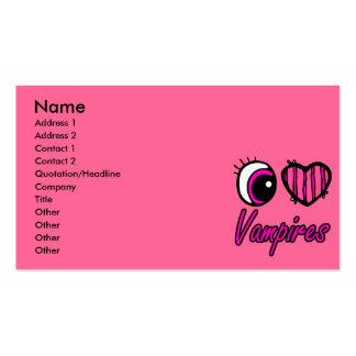 Emo Eye Heart I Love Vampires Business Card