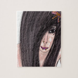 Emo Girl Jigsaw Puzzle