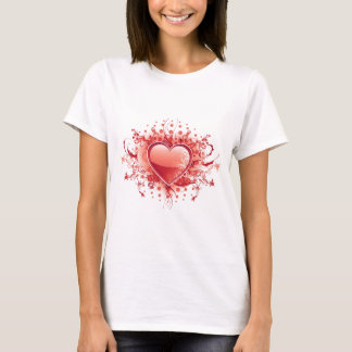 Emo Heart Design Ladies T-Shirt
