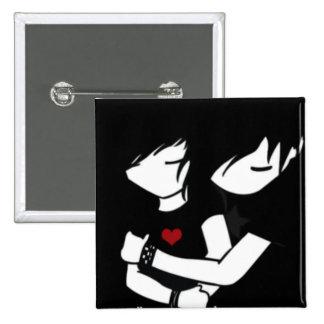 emo love 2 inch square button