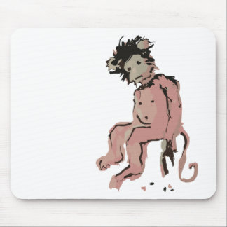 emo monkey ink mouse pad