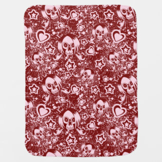 emo skull background baby blanket