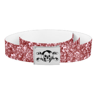 emo skull background belt