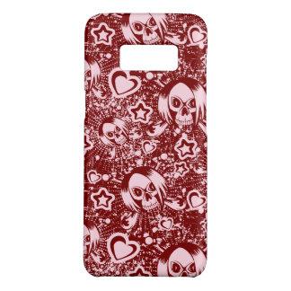 emo skull background Case-Mate samsung galaxy s8 case