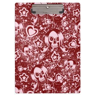emo skull background clipboard