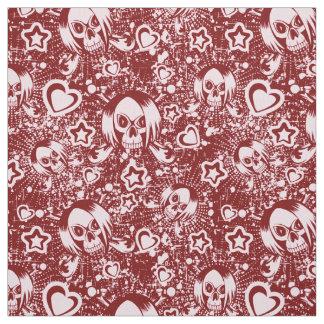 emo skull background fabric