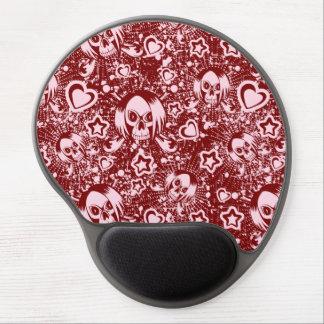emo skull background gel mouse pad