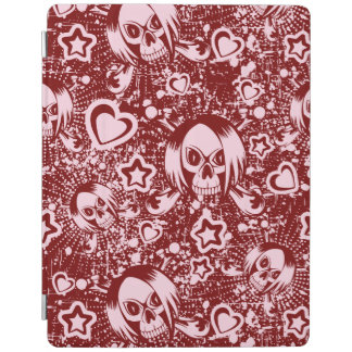 emo skull background iPad cover