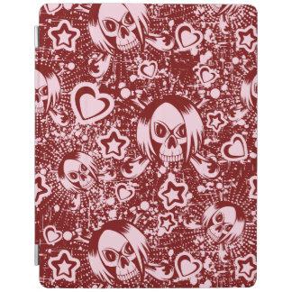 emo skull background iPad cover