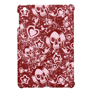 emo skull background iPad mini case
