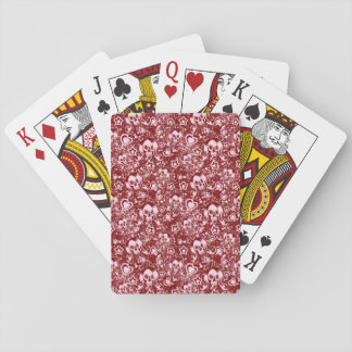 emo skull background playing cards