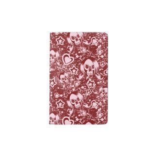 emo skull background pocket moleskine notebook