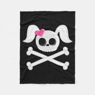 Emo Skull Fleece Blanket