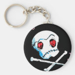 "Emo Skulls & Hearts : ""I love you death"" accessory Keychains"