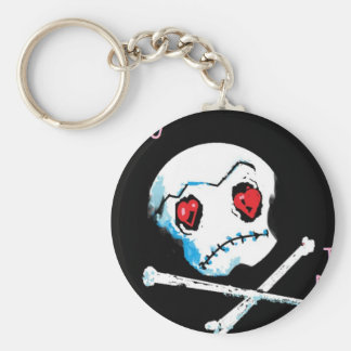 "Emo Skulls & Hearts : ""I love you death"" accessory Keychain"