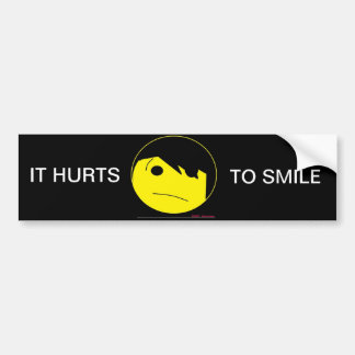 Emo Smile Bumper Stickers