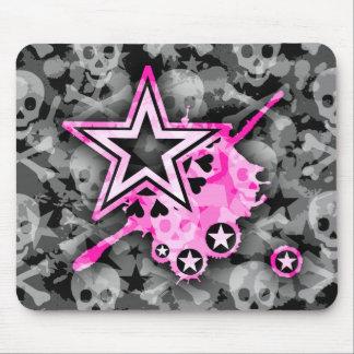 Emo Stars & Skulls Mouse Pad