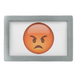 Emoji - Angry Rectangular Belt Buckles