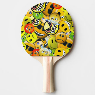 Emoji animated faces ping pong paddle