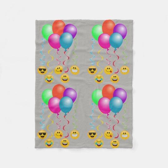 emoji ballons fleece blanket