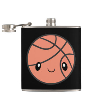 Emoji Basketball Hip Flask