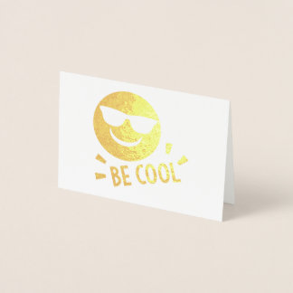 Emoji Be Cool Notecards Foil Card