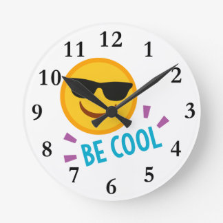 Emoji Be Cool Wall Clocks