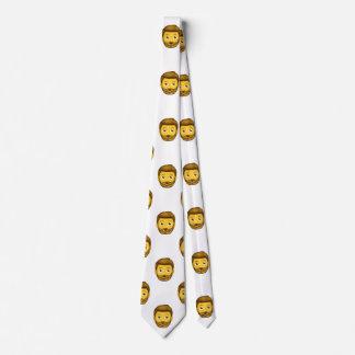 emoji bearded man menswear mens necktie neck tie