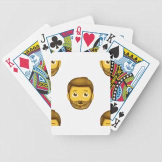 emoji bearded man poker deck