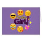 Emoji Birthday Girl Card