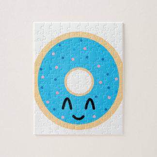 Emoji blue donut. jigsaw puzzle