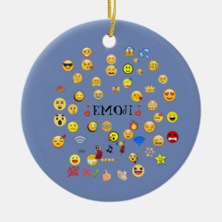 emoji ceramic ornament