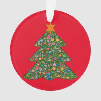 Emoji christmas tree and red Built4Love heart