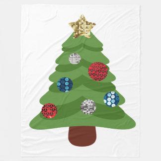 emoji christmas tree blanket