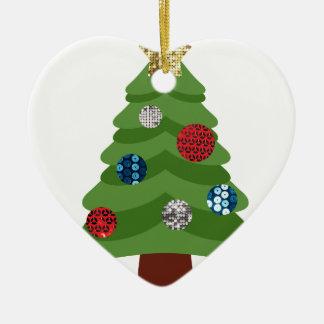 emoji christmas tree ceramic ornament