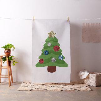 emoji christmas tree fabric