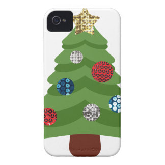 emoji christmas tree iPhone 4 cover