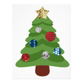 emoji christmas tree letterhead