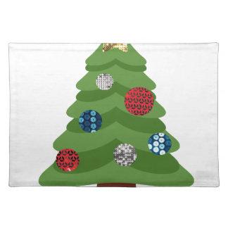 emoji christmas tree placemat