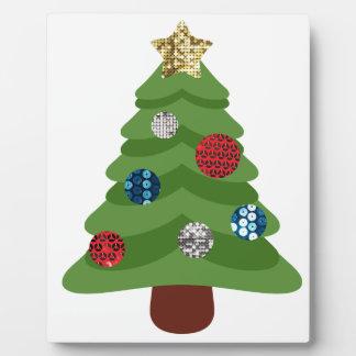 emoji christmas tree plaque